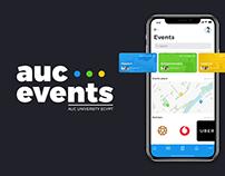 AUC EVENTS - Concept app