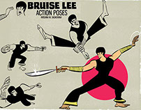 Bruise Lee Action Poses