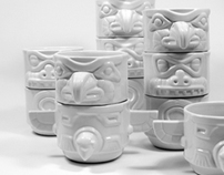 Totem Cups  Design by Rob Southcott