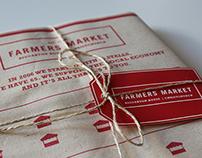 Christchurch Farmers market infographic tea towel set