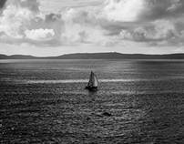 sailing B&W