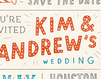Kim & Andrew's Save the Date