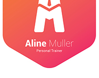 Aline Müller | Personal Trainer logo development
