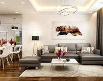 Thiết kế nội thất chung cư GoldMark nhà anh Đức Anh