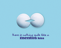 Mentos Kiss Print Ad