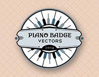 Vintage Piano Badges