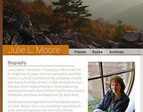 Julie L. Moore Site Redesign WIP