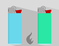 Flat Lighter Icons