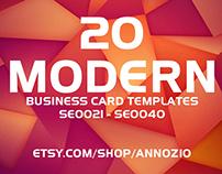 20 Modern Business Card Template SE0021 - SE0040
