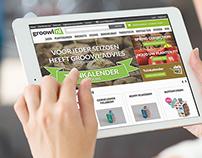 Groowl - Urban Garden e-commerce solution & co-identity
