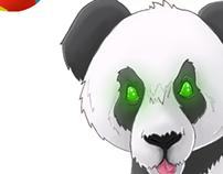Oso Panda de circo.