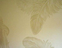 Feathers - Mural painting