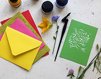 Calligraphy postcards