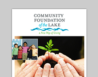 Community Foundation of the Lake Brochure and Logo