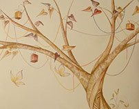 Gifts tree - Mural painting