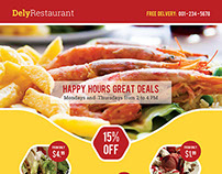 Dely Restaurant Flyer Template