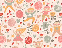Children seamless patterns