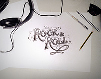 Hand Lettering Project I Rock and Roll