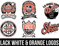Black, White & Orange Logos 2