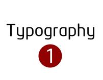 Typography : 1