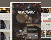 Brick & Mortar Coffee Branding & Website