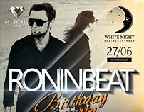 roninbeat club poster