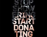 Stop showering. Start donating