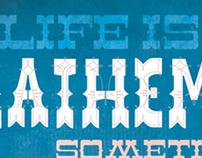 life is like mathematics poster