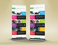 Multipurpose Business Roll-Up Banner