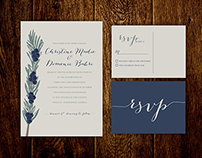Elegant Natural Wedding Invitation Set
