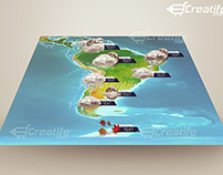 3D Earth Weather Infographic News