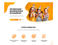 Kids event agency Landing Page