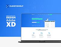 Cleanshelf XD Landing Page