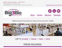 Big3Bio Responsive Newsletter Re-design/development