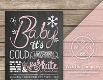 Custom Typography | Baby Shower Invitation
