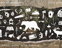 Bushcraft Necessities, 100+ Hand Drawn Icons