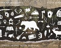 Bushcraft Necessities, 100+ Hand Drawn Icons