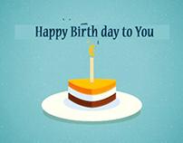 Birth day greeting video