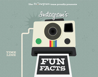 Instagram's fun facts infographic