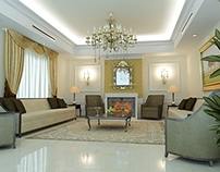 Residential Villa Classic Reception Interior Design