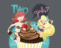 Two girls, one CUPcake
