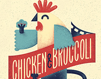 Chicken&Broccoli Illustration