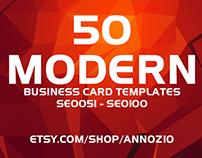 50 Modern Corporate Business Cards SE0051 - SE0100