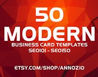 50 Modern Corporate Business Cards SE0101 - SE0150