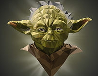 Star Wars low poly portraits