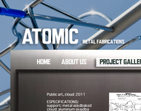 Atomic fabrications web design