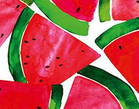 watermelons - textile project