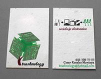 Business card for trashnology.