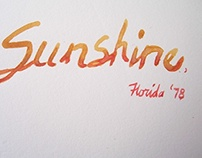 Hand Lettering in Paint