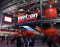 Jets/Giants Digital Signage for Verizon Studio